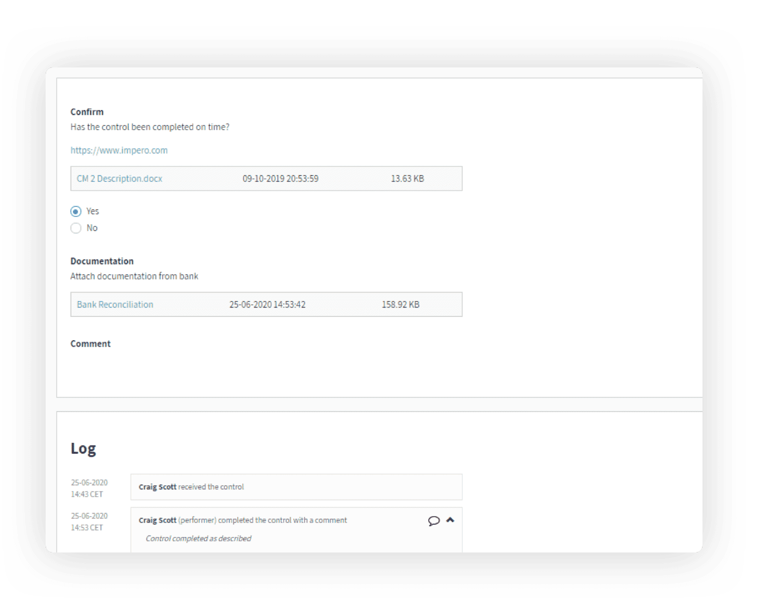 Documentation is easy to upload. All your documentation in one place